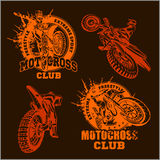 Motocross sport emblem Royalty Free Stock Images