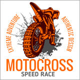 Motocross sport emblem Stock Photography