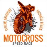 Motocross sport emblem. Motocross sport - vector emblem for t-shirts Stock Photography