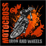 Motocross sport - grunge poster Royalty Free Stock Photography