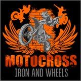 Motocross sport - grunge poster Stock Image