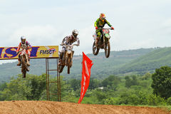 Motocross sport. Motocross bike in a race. Stock Image
