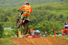 Motocross sport. Motocross bike in a race. Royalty Free Stock Photo