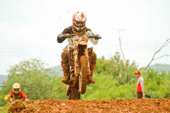 Motocross sport. Motocross bike in a race. Royalty Free Stock Image