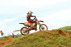 Motocross sport. Motocross bike in a race. Stock Images