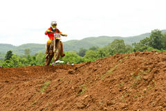 Motocross sport. Motocross bike in a race. Royalty Free Stock Photos