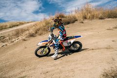 Motocross sport photo extreme, dirt championship, rider. Motocross sport photo extreme rider royalty free stock photography