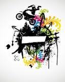 Motocross Sport Poster. Vector Illustration Stock Photo