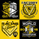 Motocross sport shield t-shirt graphics Stock Photography