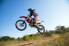 Motocross. Sport under blue sky stock photos
