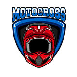 Motocross sporta emblemat Obrazy Royalty Free