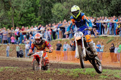 Motocross sports. Motorcycle racing cross country Royalty Free Stock Photo