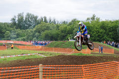 Motocross sports. Motorcycle racing cross country Royalty Free Stock Photography