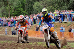 Motocross sports. Motorcycle racing cross country Royalty Free Stock Image