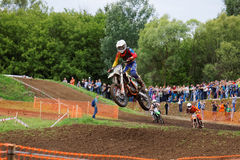 Motocross sports. Motorcycle racing cross country Stock Photos