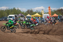 Motocross start Stock Photos