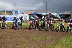 Motocross Saldus. Motocross start from Latvia, Saldus Silavotini royalty free stock image