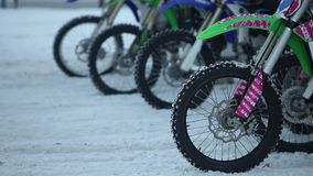 Motocross starting line close to stock video footage