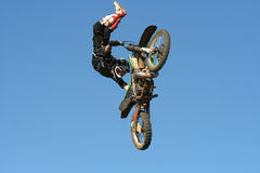 Motocross Stunt Stock Photo