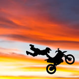 Motocross Stunt Illustration Royalty Free Stock Photos
