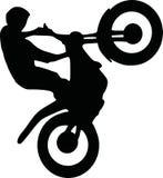 Motocross stunt. Vector sports icon Royalty Free Stock Image