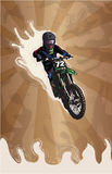 Motocross stylized Royalty Free Stock Images
