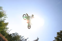 Motocross Sun Royalty Free Stock Photography