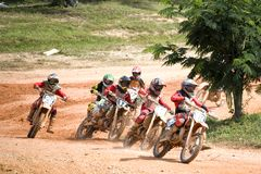 Motocross-Tätigkeit lizenzfreie stockfotos
