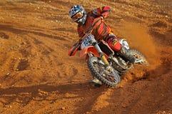 Motocross taking corners Royalty Free Stock Photo