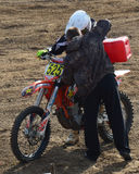 Motocross: technical support to participants Royalty Free Stock Photography