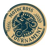 Motocross Tournament stamp Royalty Free Stock Image