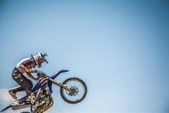 Motocross Tricks. Fun FMX tricks and stunts Stock Photography