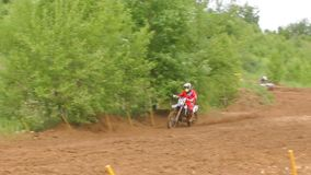 motocross Ultrarapidbild arkivfilmer