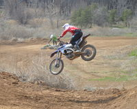 Motocross: the UPS and downs on the track Royalty Free Stock Images