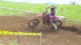 Motocross in Valdesoto, Asturias, Spain. Stock Images