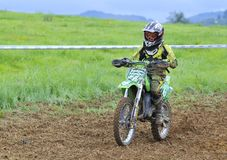 Motocross in Valdesoto, Asturias, Spain. Stock Image