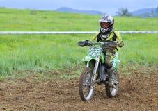 Motocross in Valdesoto, Asturias, Spain. Stock Image