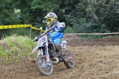 Motocross in Valdesoto, Asturias, Spain. Stock Photos