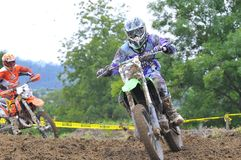Motocross in Valdesoto, Asturias, Spain. Stock Photos