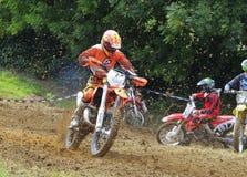 Motocross in Valdesoto, Asturias, Spain. Royalty Free Stock Image