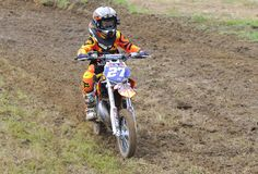Motocross in Valdesoto, Asturias, Spain. Stock Photography