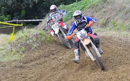 Motocross in Valdesoto, Asturias, Spain. Royalty Free Stock Photography