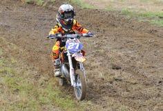 Motocross in Valdesoto, Asturias, Spanje Stock Fotografie