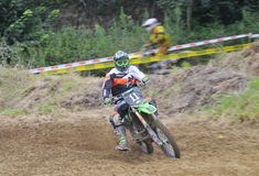 Motocross in Valdesoto, Asturias, Spanje Royalty-vrije Stock Afbeeldingen