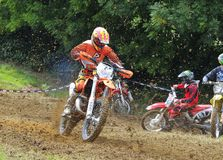 Motocross in Valdesoto, Asturie, Spagna Immagine Stock Libera da Diritti
