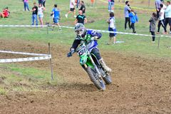 Motocross in Valdesoto, Spain. Stock Photo
