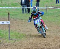 Motocross in Valdesoto, Spain. Royalty Free Stock Photography