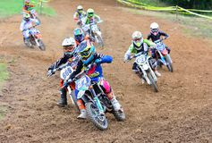 Motocross in Valdesoto, Spain. Stock Image