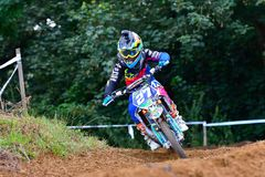 Motocross in Valdesoto, Spain. Royalty Free Stock Images