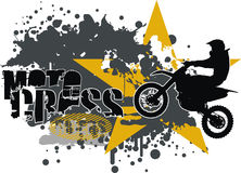 Motocross vector. Easily edit vector for posters, t-shirts, wallpapers and many more Royalty Free Stock Photo